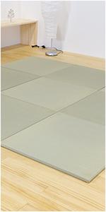 畳マット 琉球畳 置き畳 ユニット畳 い草製 縁なし パラレル オッチ