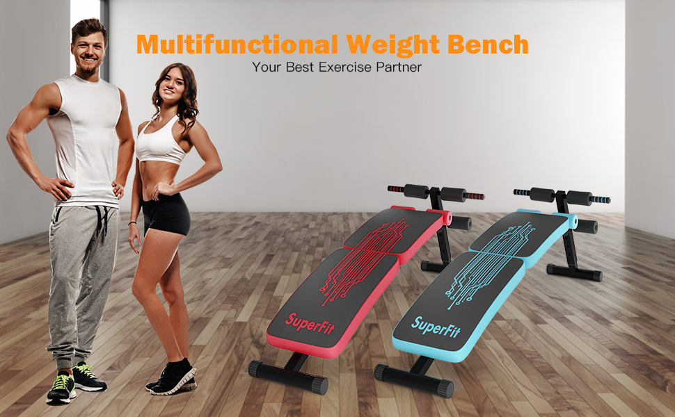 Multifunctional weight bench two color available red blue