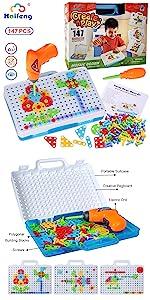 STEM educational engineering construction building blocks toys Drill kit