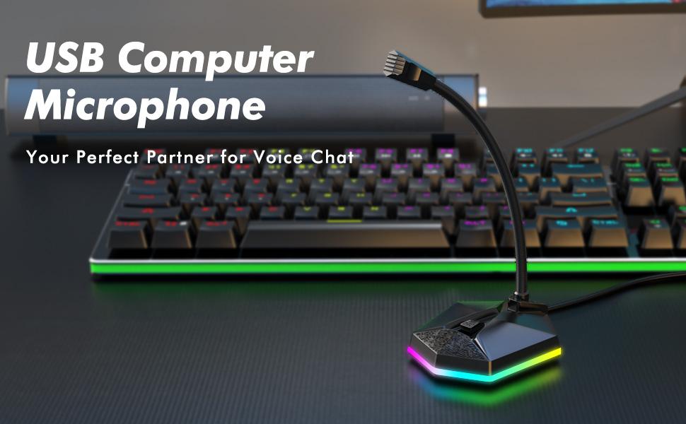 rgb gaming microphone