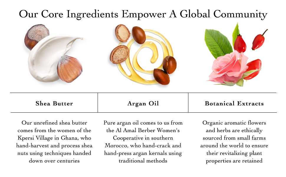 Moisturizers, Moisture, Hydrate, Shea Butter, Argan Oil, Botanical Extracts, Core Ingredients
