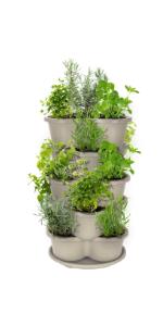 5 tier stackable planter vertical garden tower raised garden pots indoor outdoor herbs strawberries