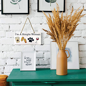 simple woman wood sing home decor cute gift