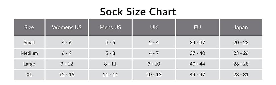 size chart guide fits small medium large extra XL X-large mens womens US EU UK JP