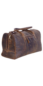 Leather Travel Duffel Bags for Men and Women