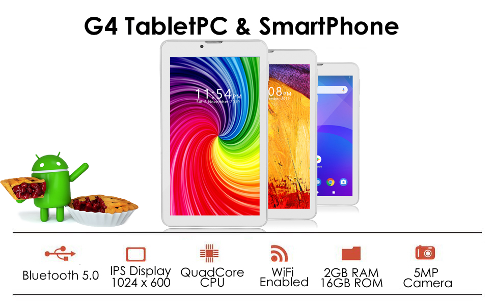 G4i 4G GSM unlocked tablet white