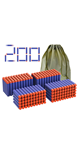 Coodoo for Nerf Compatible Darts 200 PCS Refill Pack Bullets for Nerf N-Strike Elite Toy Gun
