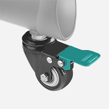 Blockierende bewegbare Räder - hohe sichere Mobilität bei Verlagerung von Raum zu Raum
