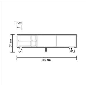 Habitdesign 0Z6635R - Mueble de TV, Acabado Color Roble y Gris ...