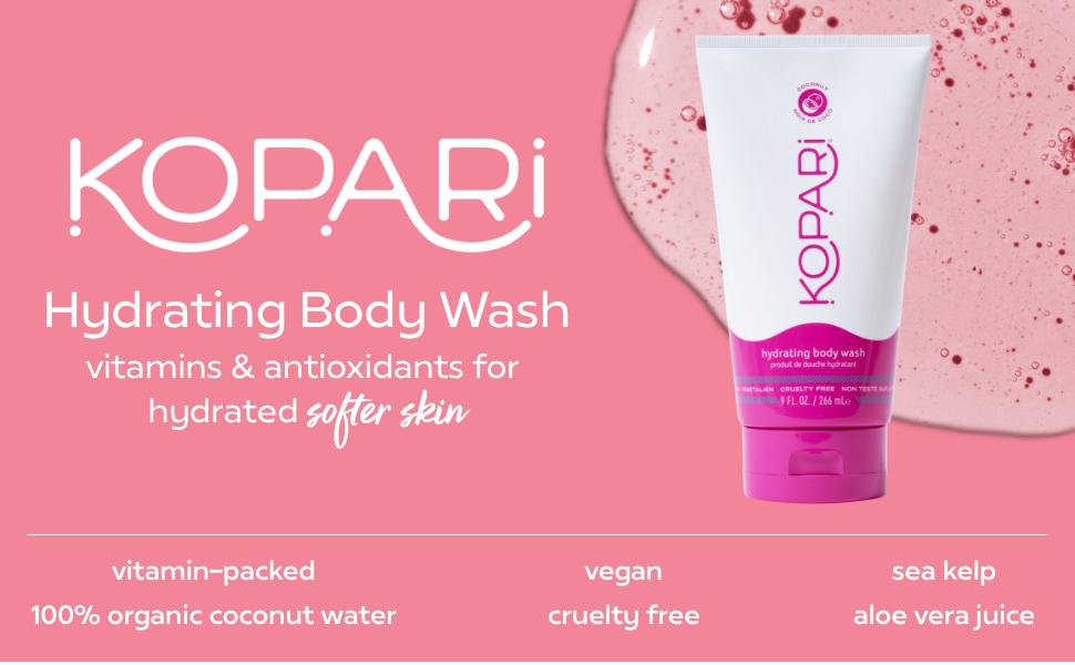 kopari coconut body wash hydrating vegan aloe vera organic coconut oil
