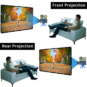 large projection screen portable