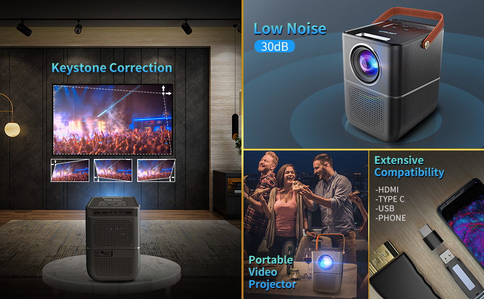 Fcoreey Video Projector