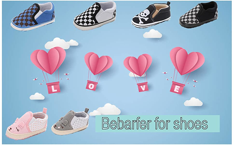 ec4ac7a4a69ba BEBARFER Infant Baby Boys Girls Shoes Canvas Sneakers Slip On Soft Sole  Toddler First Walkers Crib Shoe Flat Loafers(0-18 Months)
