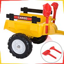 Tretauto Traktor Trettraktor mit Anhänger ab 3 Jahre Spielzeug Kinder