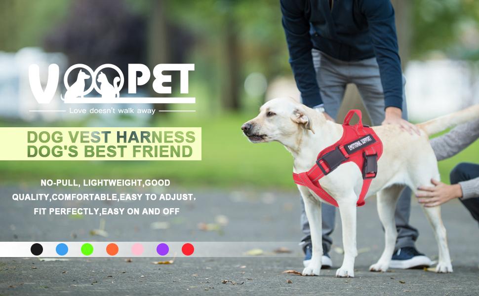 Dog vest harness, dog's best friends