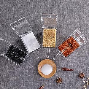 Clear Seasoning Rack Spice Pots
