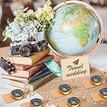 travel theme wedding favors