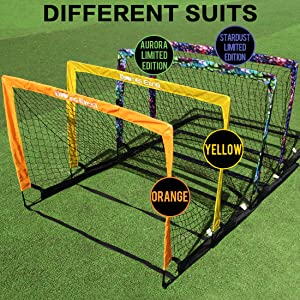 soccer goal differet color style