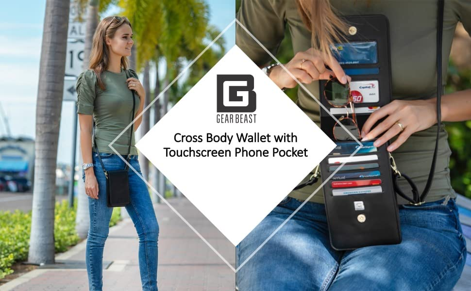 crossbody cell phone wallet purse case pouch