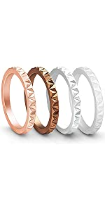 Womens Triangle Diamond Stackable Bands