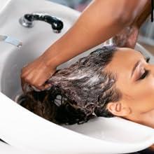 dry hair, shampoo, roses
