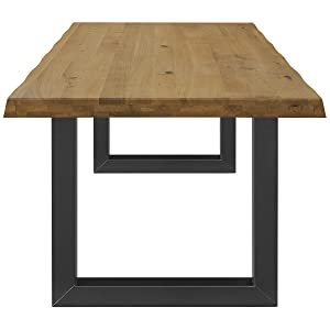 COMIFORT Mesa Comedor - Mueble de Oficina de Roble Macizo, Patas ...