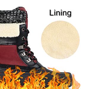 Warm Plush Faux Fur Lining