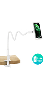 Wireless Charger Gooseneck Phone Holder