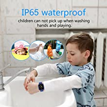 kids gps watch with IP67 waterproof boys girls smartwatch phone water alarm clock birthday gifts