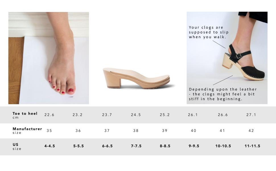 70/% OFF  Swedish Wooden Clogs for Women  Sandgrens Clogs  Women Wedge Heel Sandal  Leather Clogs  EU 38