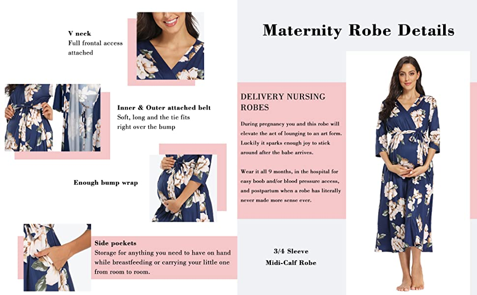 Hospital Robe for Labor and Delivery