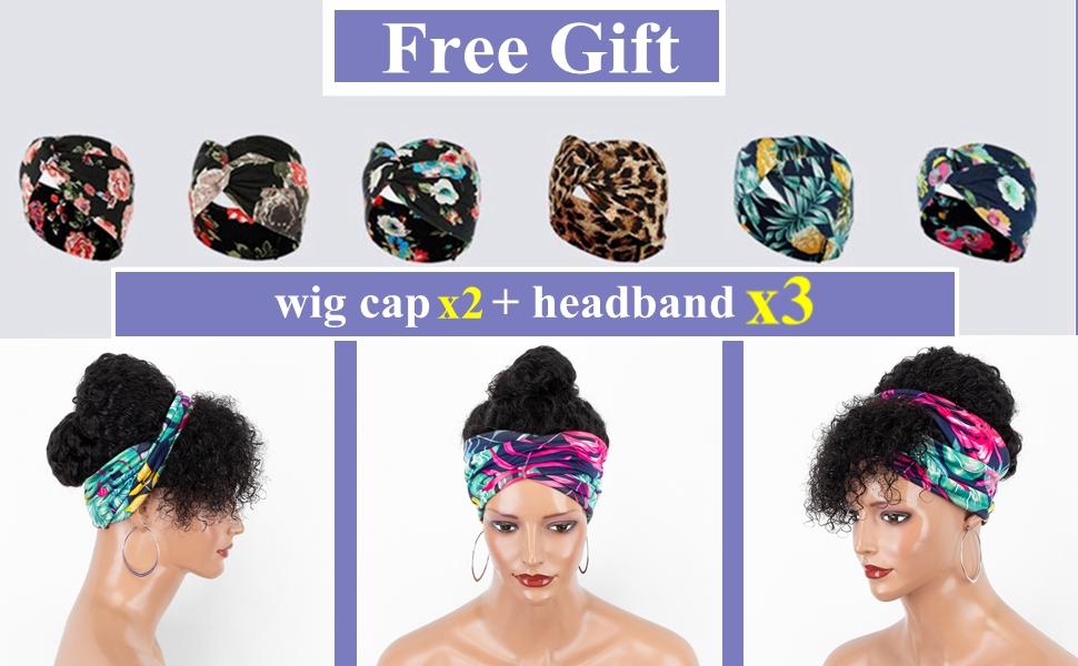Headband wigs for black women human hair