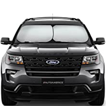 Autoamerics Windshield Sun Shade - 2 Pieces of Foldable 28'x31' Car Front Window Sunshade