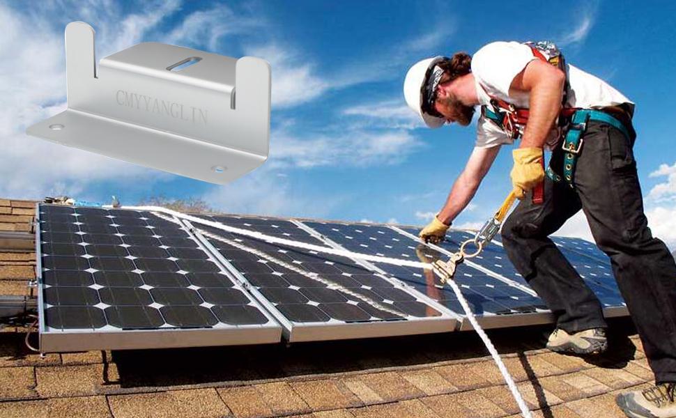 Z bracket for solar panel