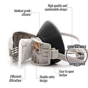 ST-AX paint mask respiradores mask respirstor atmoblue mask tespiratory masks welding respirator
