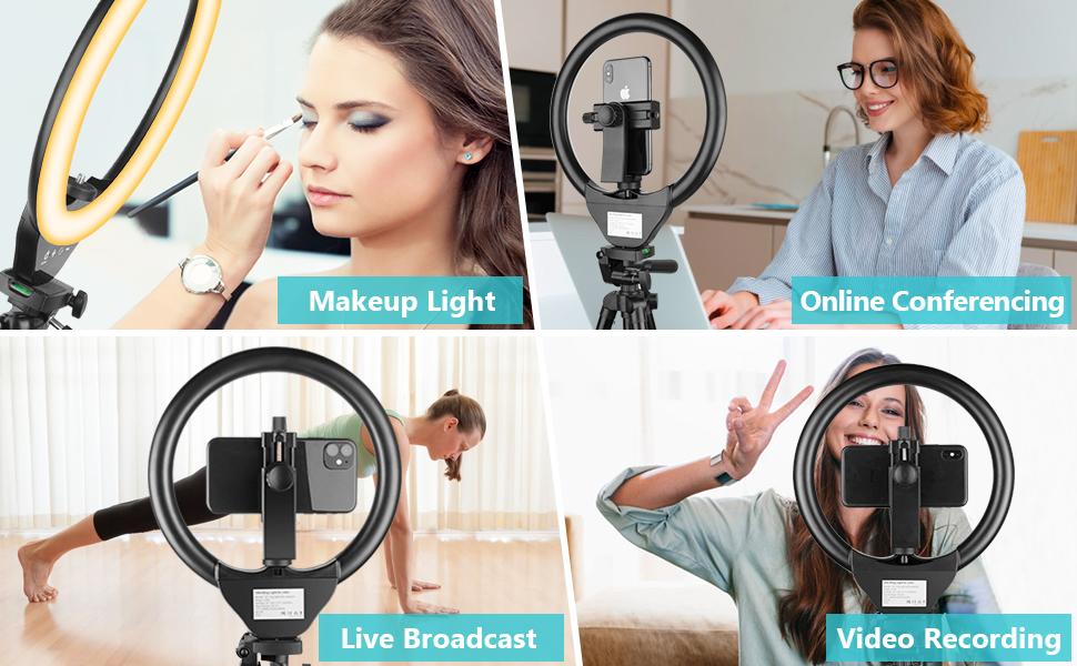 webcam mit ringlicht  ring light youtoube ringleuchte mit stativ ringlicht handy