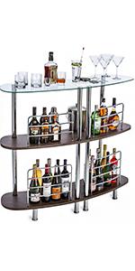 free standing wood bar unit mini bar