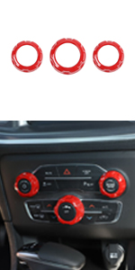 Voodonala Radio AC Knobs for 2015-2019 Dodge Challenger Charger Chrysler 300 ABS