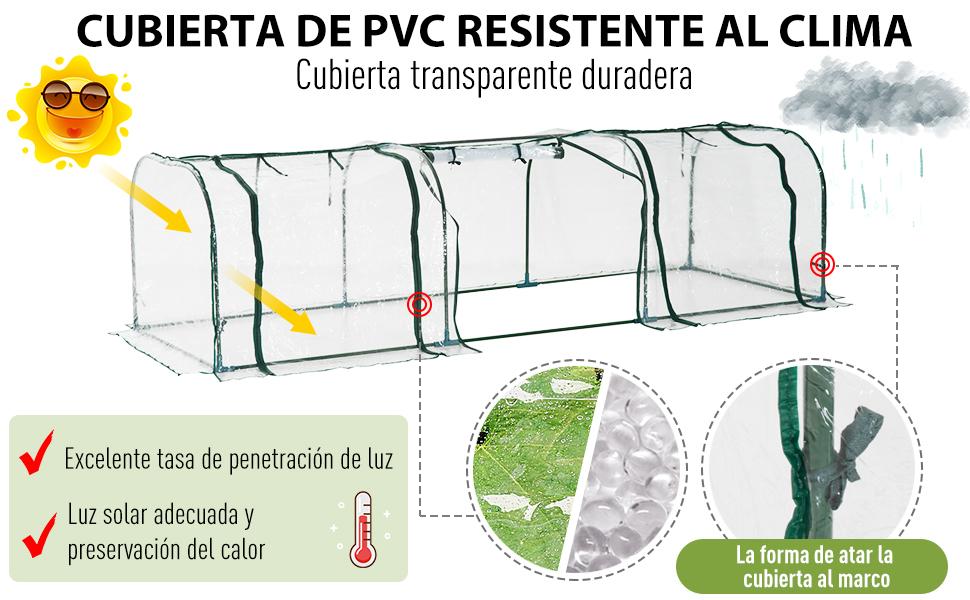 Outsunny Invernadero Caseta para Jardín Terraza Cultivo de Plantas ...