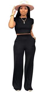 ECHOINE Womens Fashion 2 Piece Outfits