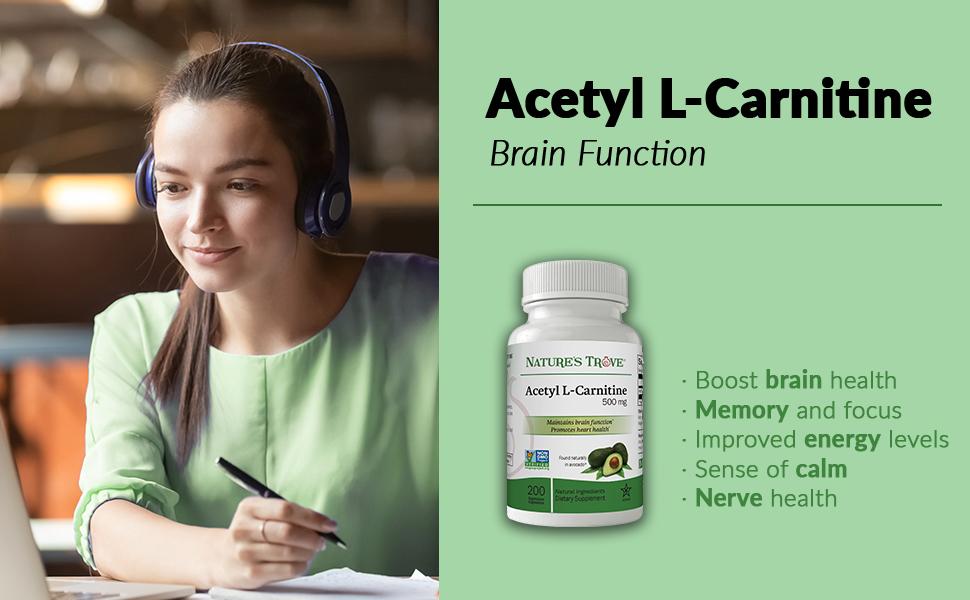 acetyl l-carnitine, alcar, brain, focus, concentration