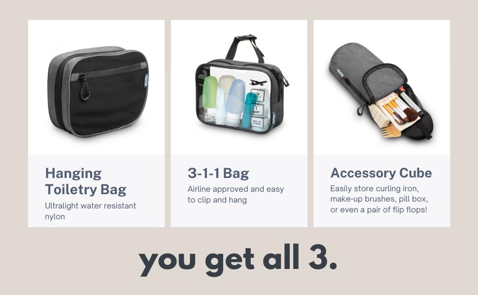 toiletry bag kit, toiletry bag set, toiletry bag kit set, toiletry set, toiletry kit