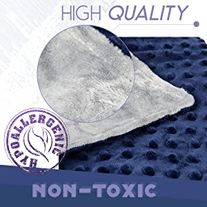 high quality weighted blanket, Hypo-allergenic weighted blanket, non-toxic, odorless blanket