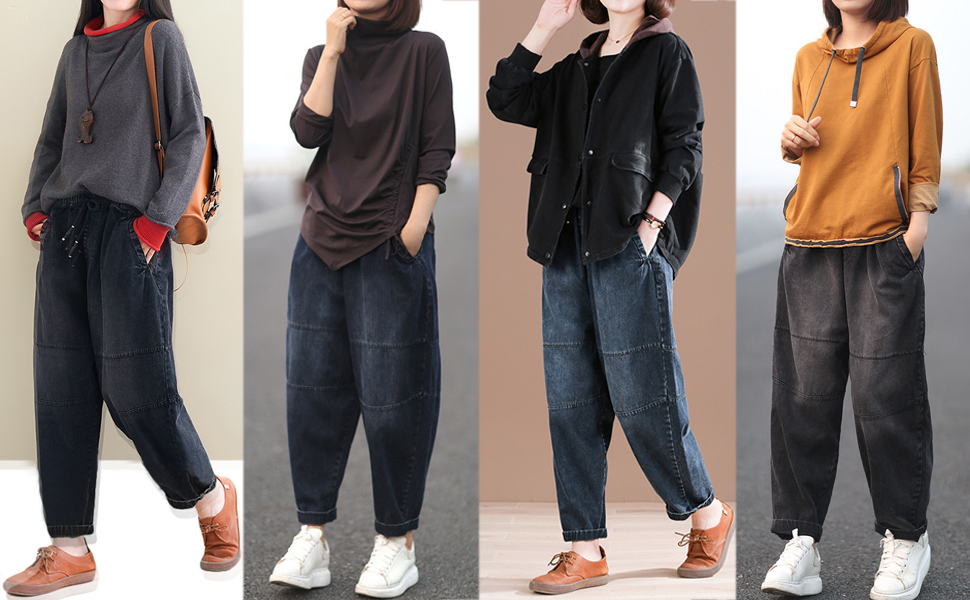 easy to match with tops,blouse,sweatshirt,sweat and so on