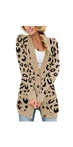 cardigan sweater Leopard Cardigans women long cardigan warm sweaters loose oversized cardigan