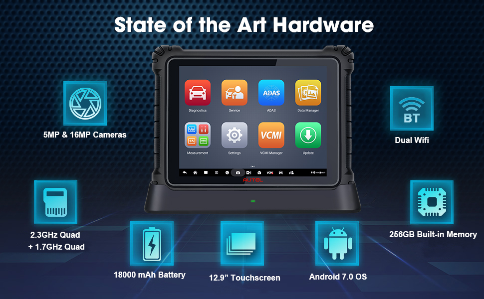 Amazon.com: Autel MaxiSys Ultra Top Diagnostic Scan Tool for Technicians,  Intelligent Diagnostics, 5-in-1 VCMI, 2021 Newest Release, Bi-Directional  Control Scanner, for US Market Only: Automotive