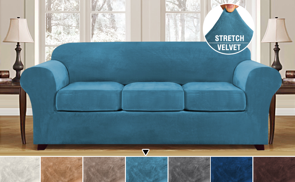 3 Cushion Covers for Sofa Furniture Protector