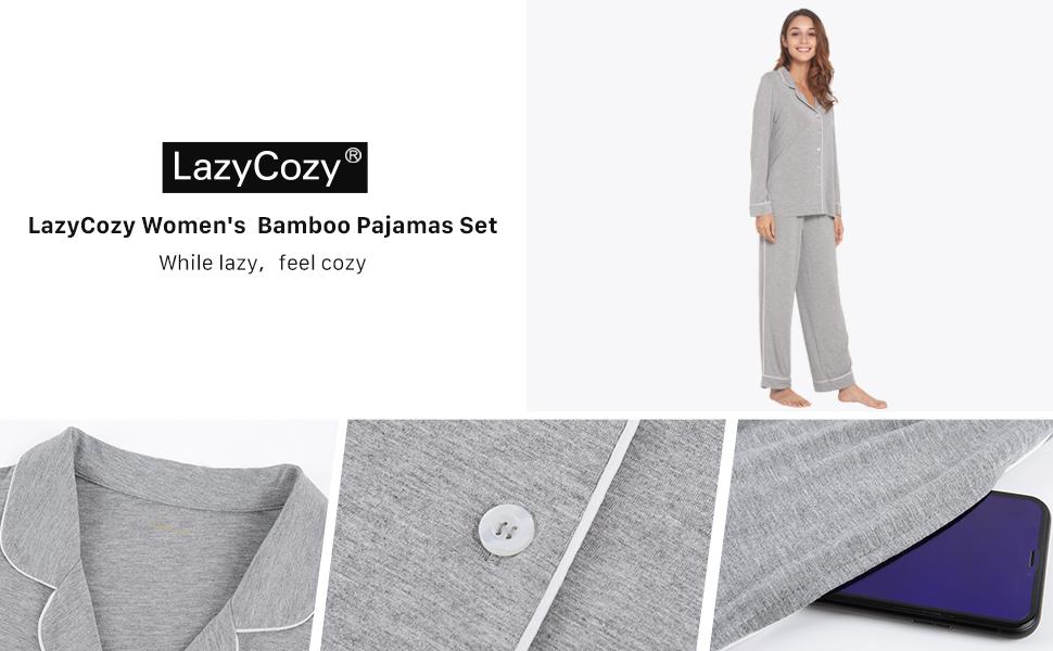 LazyCozy Women's  Bamboo Pajamas Set