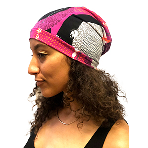 0040fc8caab Amazon.com: Fairy Black Mother Dreadlocks Locs Cap (African kente ...