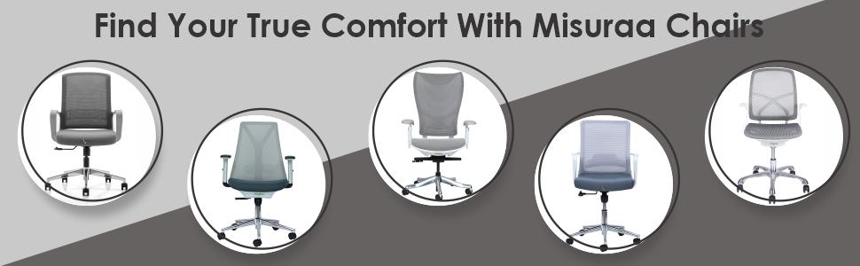 B07PTRBRPK- MISURAA Imported Kriss Kross White Ergonomic Chair with White Korean Mesh- SPN- FOR1